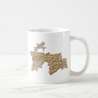 Tajikistan Flag ~ Map Mug