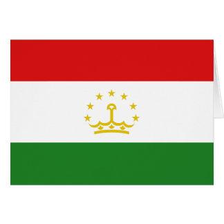 Tajikistan Flag Notecard Greeting Cards