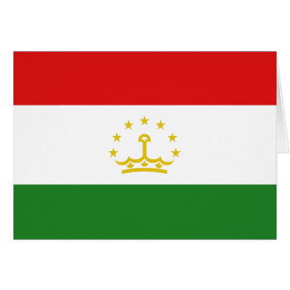 Tajikistan Flag Notecard Note Card