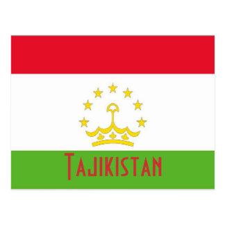 Tajikistan flag postcard