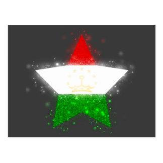 Tajikistan Flag Shining Postcard