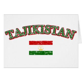 Tajikistan football design greeting card
