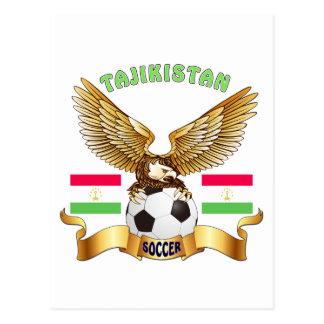 Tajikistan Football Designs Postcard