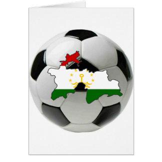 Tajikistan football soccer greeting card