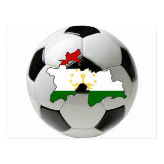 Tajikistan football soccer postcard
