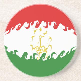 Tajikistan Gnarly Flag Coasters
