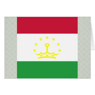 Tajikistan High quality Flag Greeting Card
