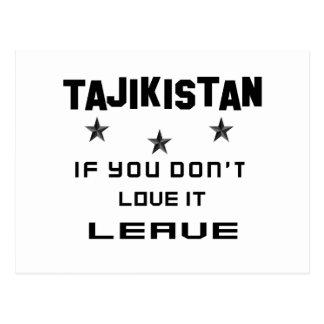 Tajikistan If you don't love it, Leave Postcard