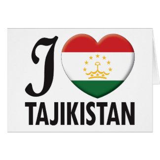 Tajikistan Love Greeting Cards