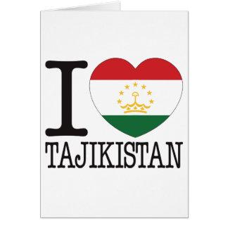 Tajikistan Love v2 Greeting Card