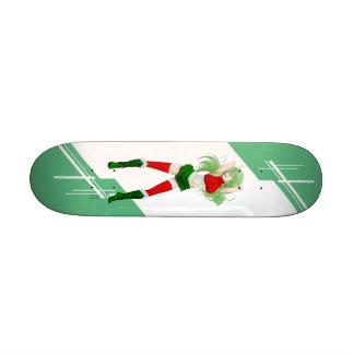 Tajikistan Manga girl dressed in Flag Skate Board