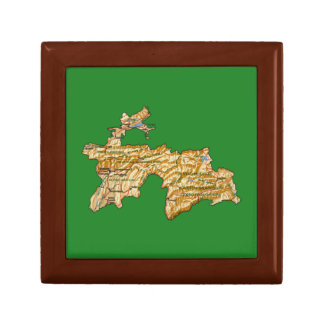 Tajikistan Map Gift Box