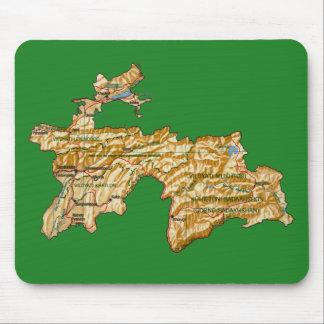 Tajikistan Map Mousepad