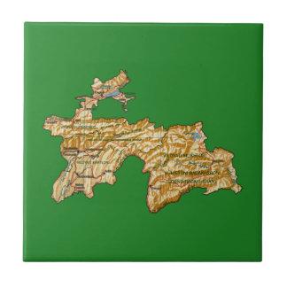 Tajikistan Map Tile