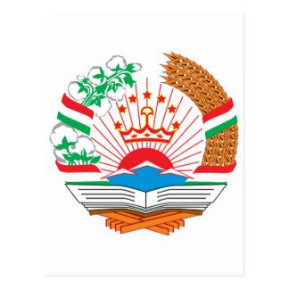 Tajikistan Official Coat Of Arms Heraldry Symbol Postcard