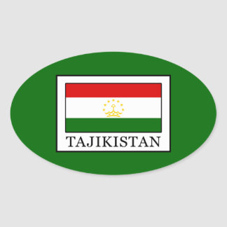 Tajikistan Oval Sticker