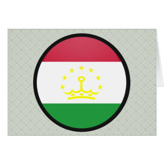 Tajikistan quality Flag Circle Cards
