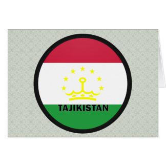 Tajikistan Roundel quality Flag Greeting Cards