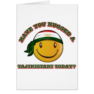 Tajikistan smiley flag designs greeting card