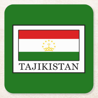 Tajikistan Square Paper Coaster