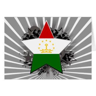 Tajikistan Star Greeting Card