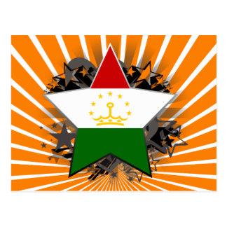 Tajikistan Star Postcard