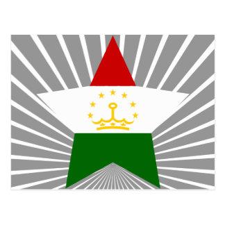 Tajikistan Star Postcards