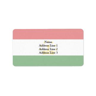 Tajikistan, Syria Address Label