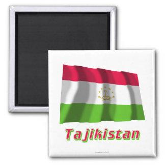 Tajikistan Waving Flag with Name Magnet