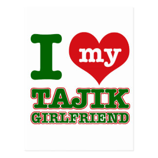 Tajikistan wife postcard
