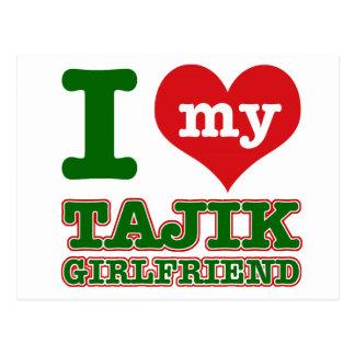 Tajikistan wife post card