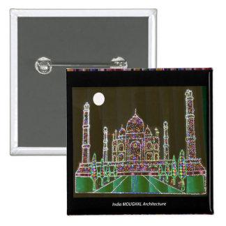 TAJMAHAL Palace Mughal Memorial Landmark Building 15 Cm Square Badge
