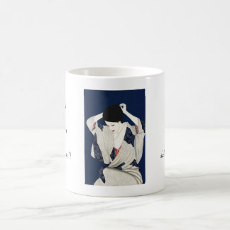 Takasawa Keiichi Hair classic japanese lady woman Basic White Mug