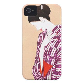 Takasawa Keiichi Woman in kimono art japan lady Case-Mate iPhone 4 Case
