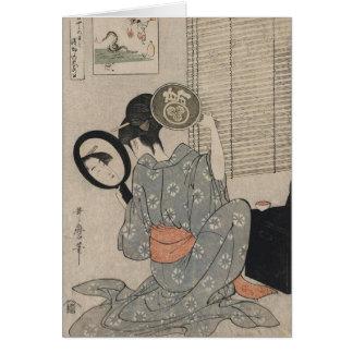 Takashima Ohisa painting-Utamaro Blank Note Card
