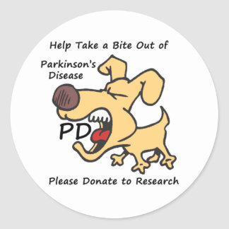 Take a Bite Out of Parkinson s Round Stickers