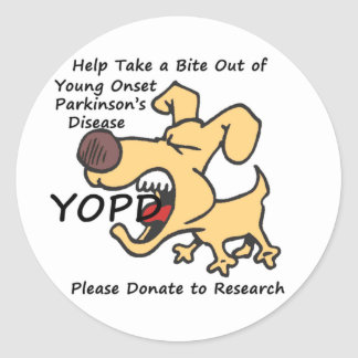 Take a Bite Out of Young Onset Parkinson s Sticker