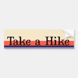 Take a Hike Bumper Stickers