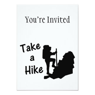 Take A Hike 5x7 Paper Invitation Card