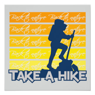 Take a Hike invitation, customizable Card
