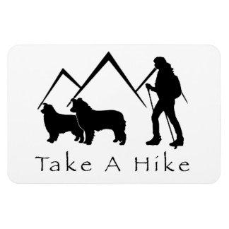 Take a Hike Magnet- Aussie/Border Collie Rectangular Photo Magnet
