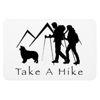 Take a Hike Magnet- Aussie/Couple Rectangular Photo Magnet