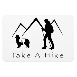 Take a Hike Magnet- Aussie/Pack Rectangular Photo Magnet