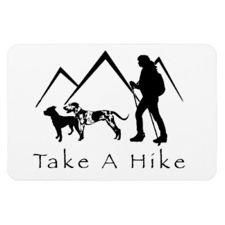 Take a Hike Magnet- Catahoula/Pitbull Rectangular Photo Magnet