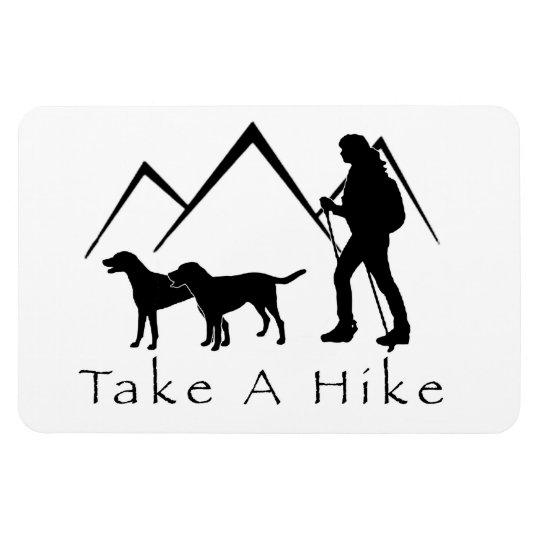 Take a Hike Magnet- Mutts/Mixes Rectangular Photo Magnet
