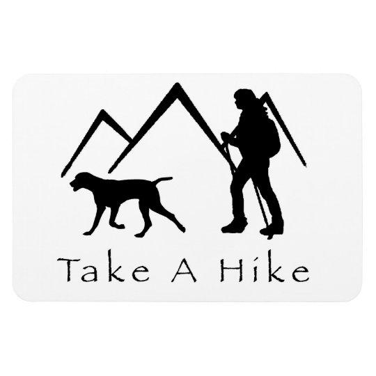 Take a Hike Magnet-Weimaraner Rectangular Photo Magnet