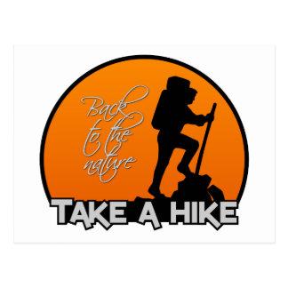Take a Hike postcard, customizable Postcard