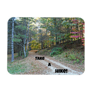Take a Hike! Rectangular Photo Magnet
