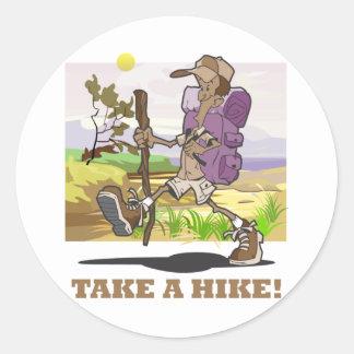 Take a Hike! Round Sticker