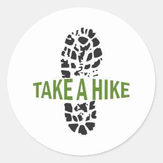 Take A Hike Round Sticker